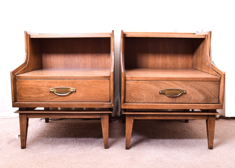 Pair Of Kent Coffey Signet Step Back End Tables