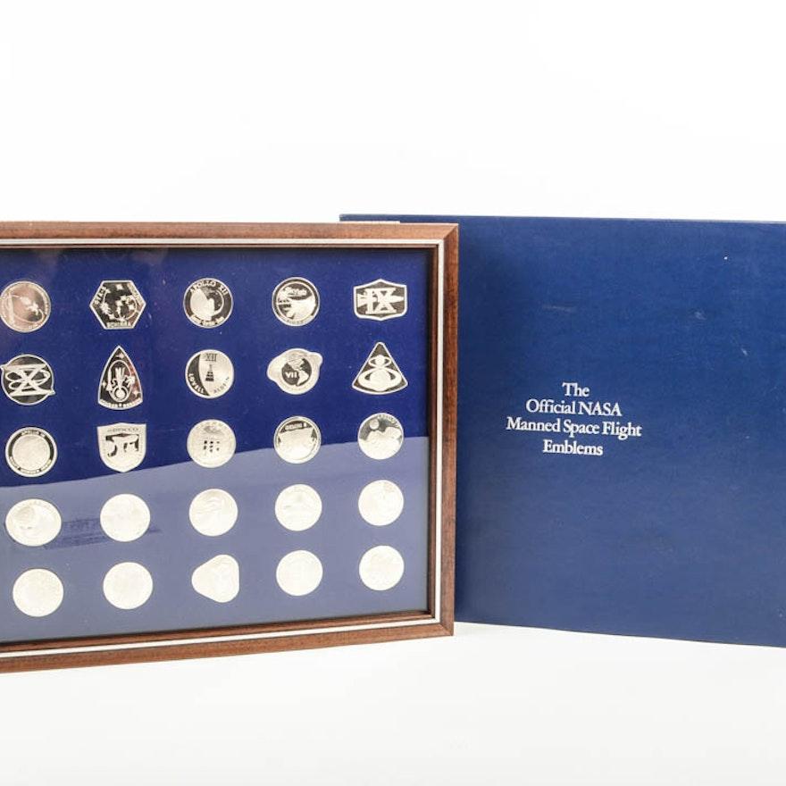 Franklin Mint Official Nasa Sterling Silver Emblems Ebth