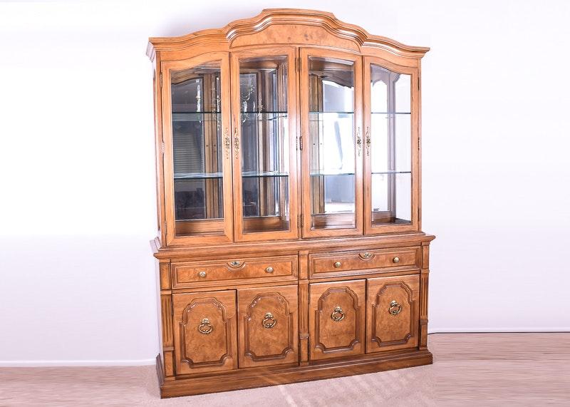 Thomasville Oak China Display Cabinet
