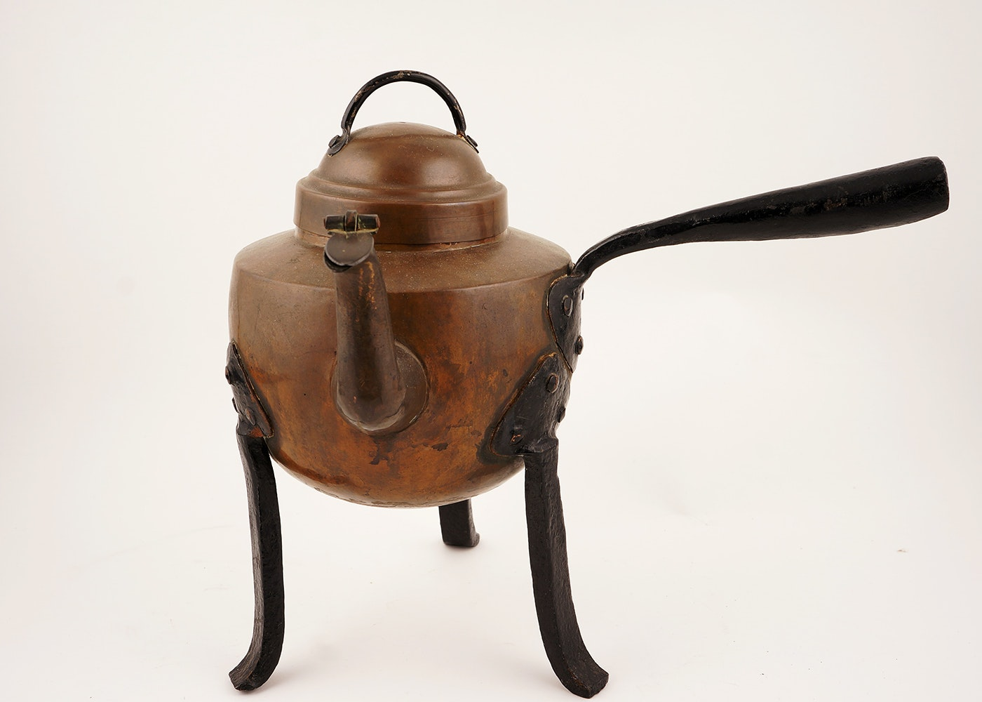 hand forged swedish copper fireplace coffee pot ebth