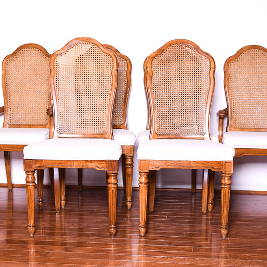cane back dining chairs Set of Six Thomasville Cane Back Dining Chairs : EBTH cane back dining chairs