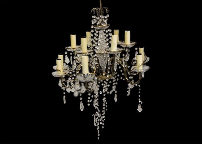 Elecrtic Brass And Crystal Hanging Chandelier Ebth