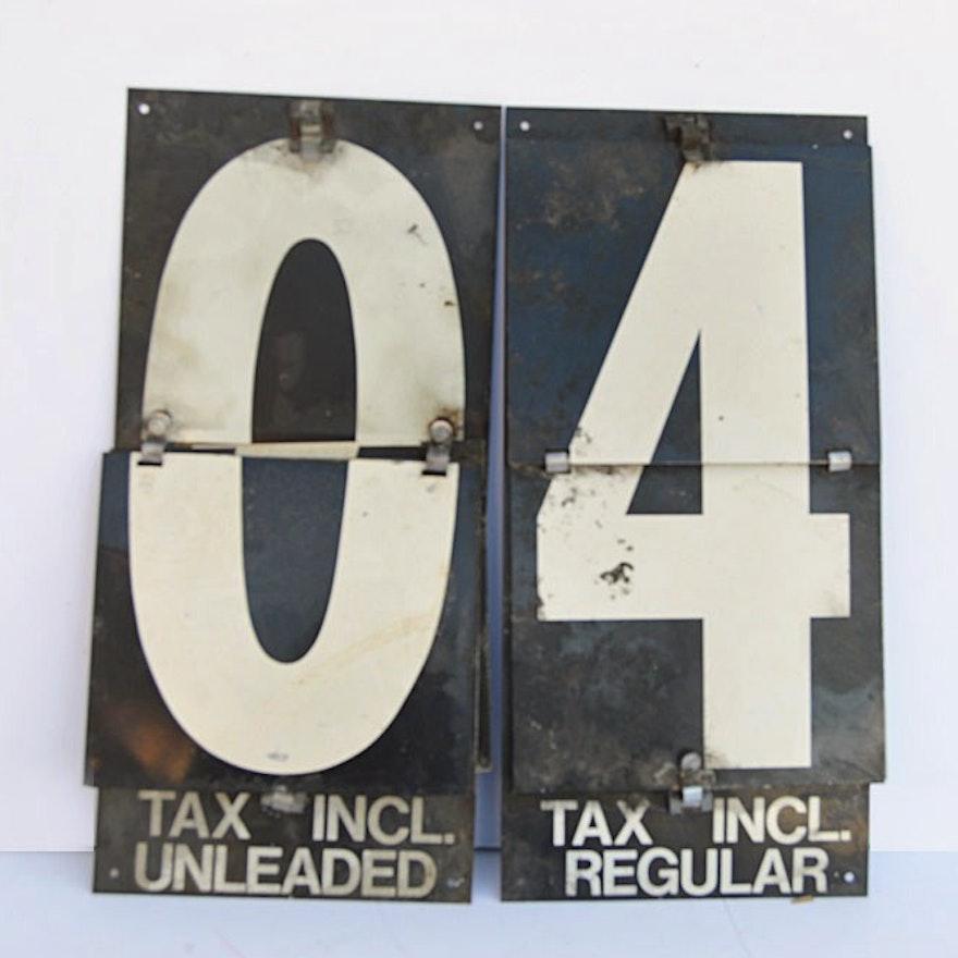 Retro Gas Station Price Flip Number Sign