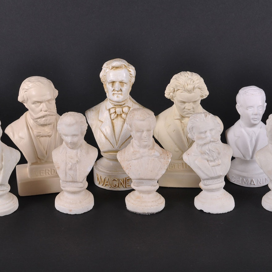 Vintage Miniature Composer Busts