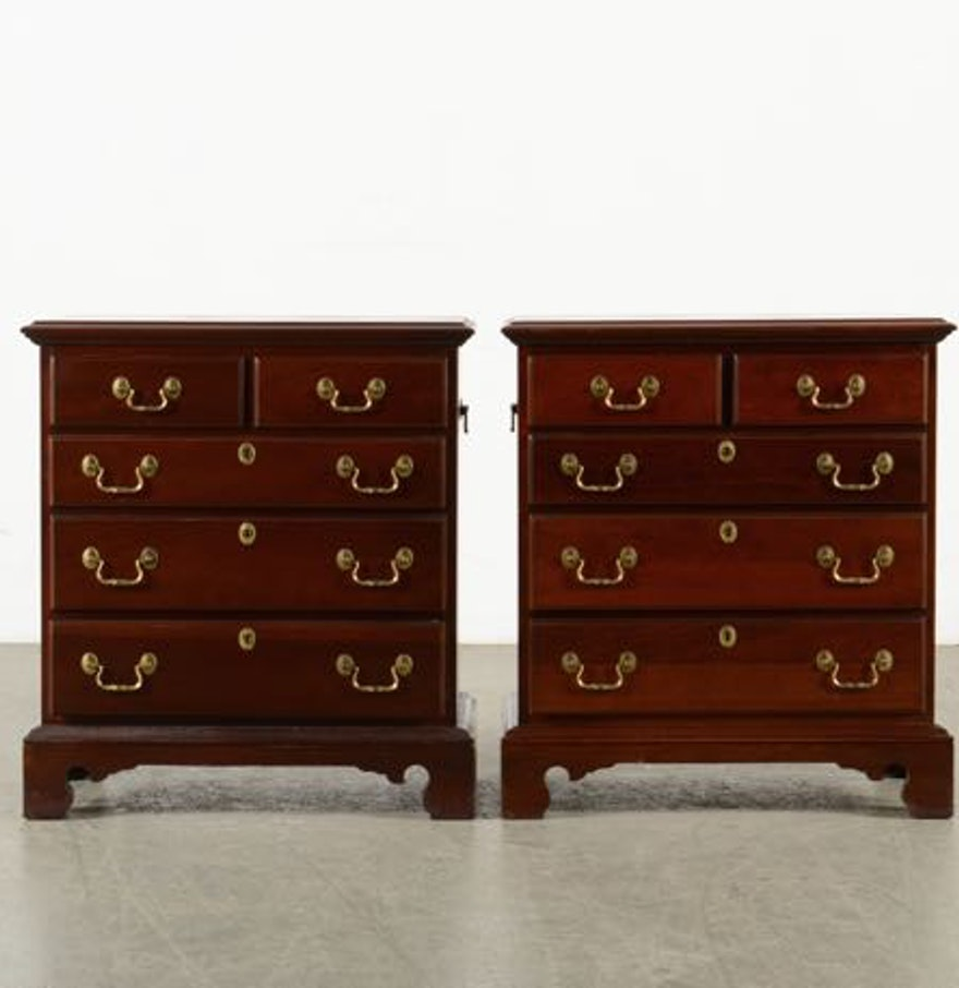 Mahogany antique furniture 2 best images collections hd for gadget - Set Of Two Link Taylor Heirloom Collection Mahogany Night Stands