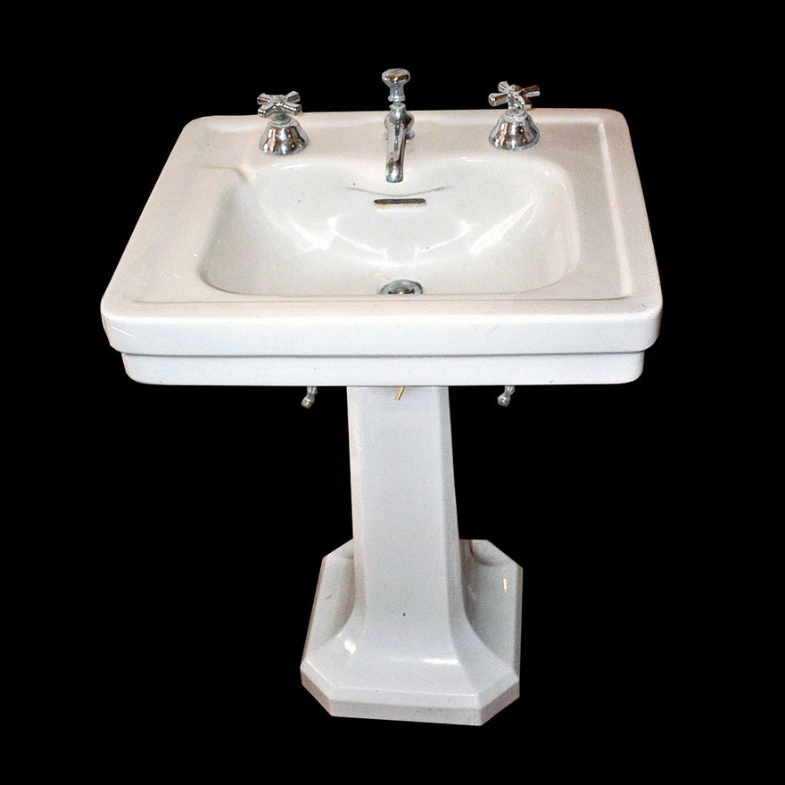 1930s American Standard Quot Blackford Quot Pedestal Sink With