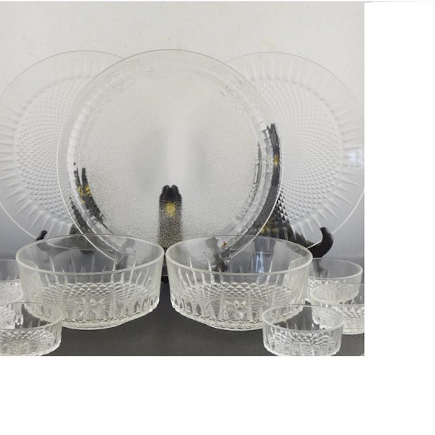 Arcoroc Glass Salad Bowls and Platters