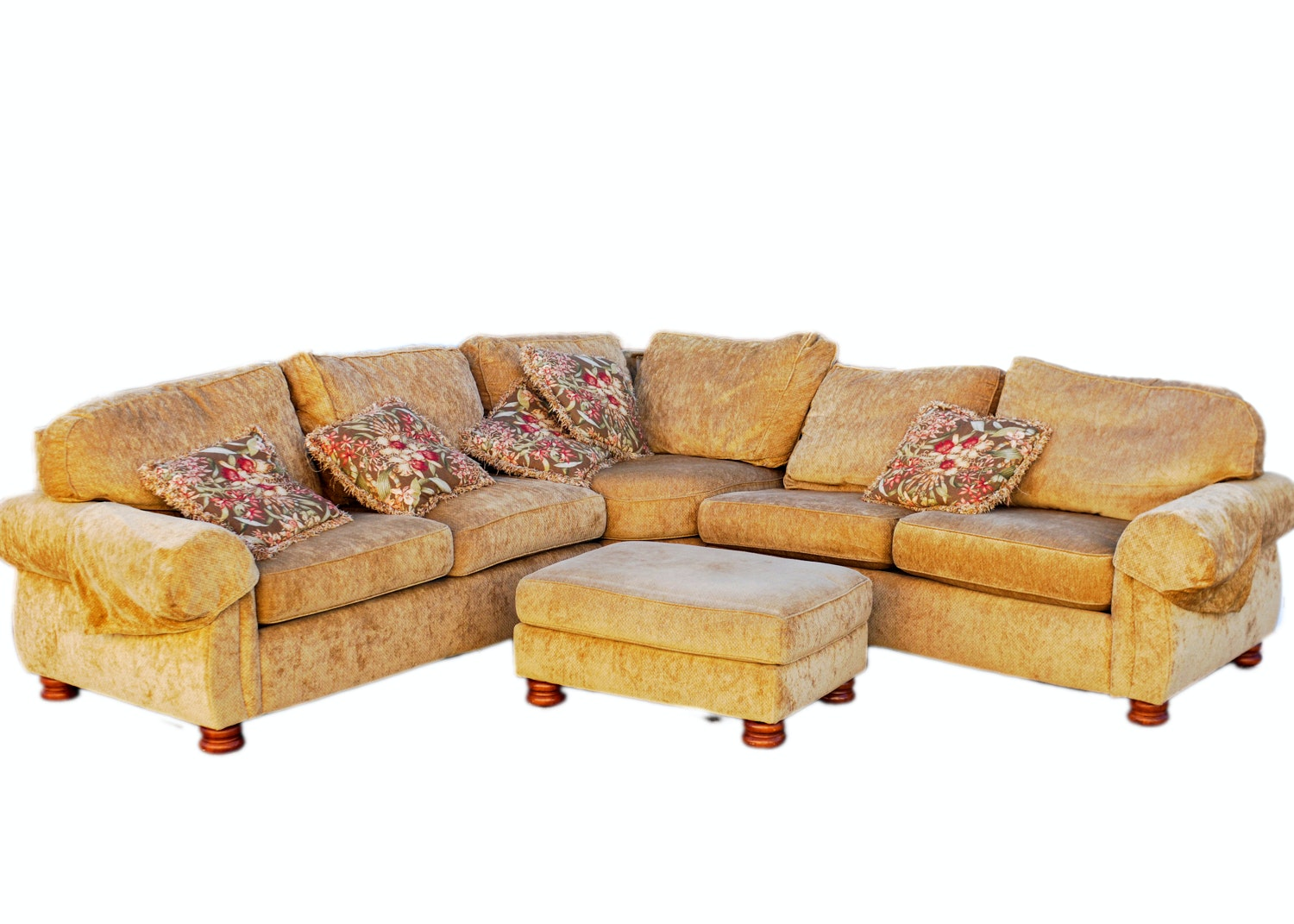 Thomasville Sectional Sofa And Ottoman ...