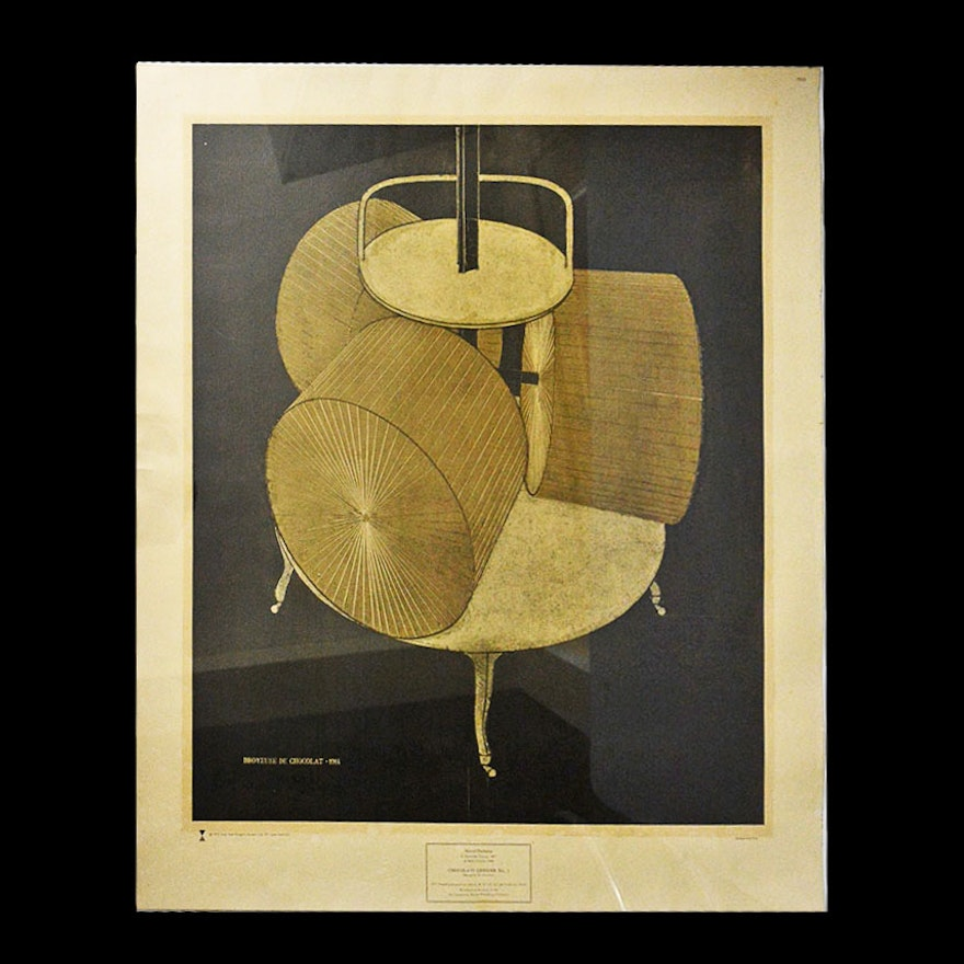 """1972 Marcel Duchamp Lithograph of """"Chocolate Grinder No. 2"""""""