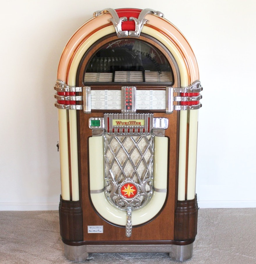 reproduction 1946 wurlitzer model 1015 one more time jukebox ebth. Black Bedroom Furniture Sets. Home Design Ideas