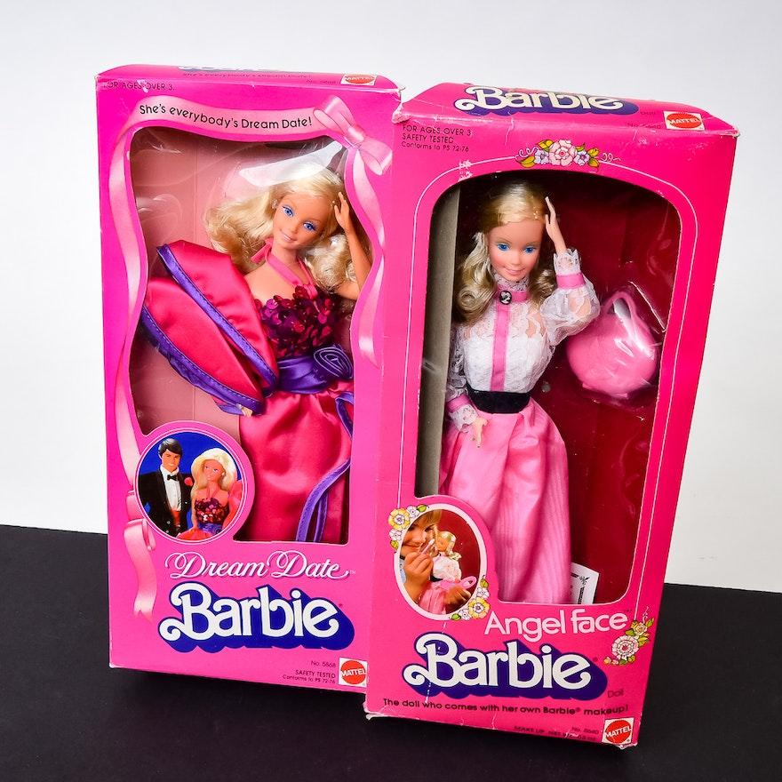 vintage 80s barbie doll duo ebth