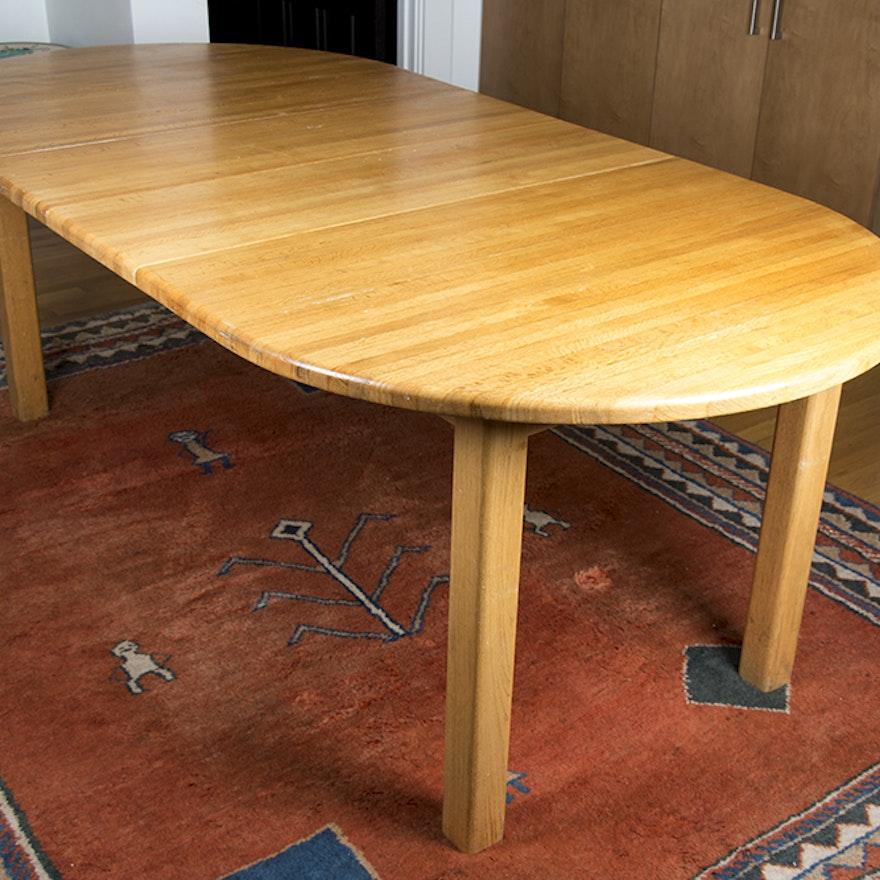 eastern butcher block dining table ebth. Black Bedroom Furniture Sets. Home Design Ideas