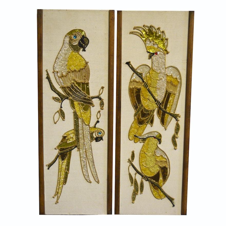 Mid Century Modern Bird Gravel Art