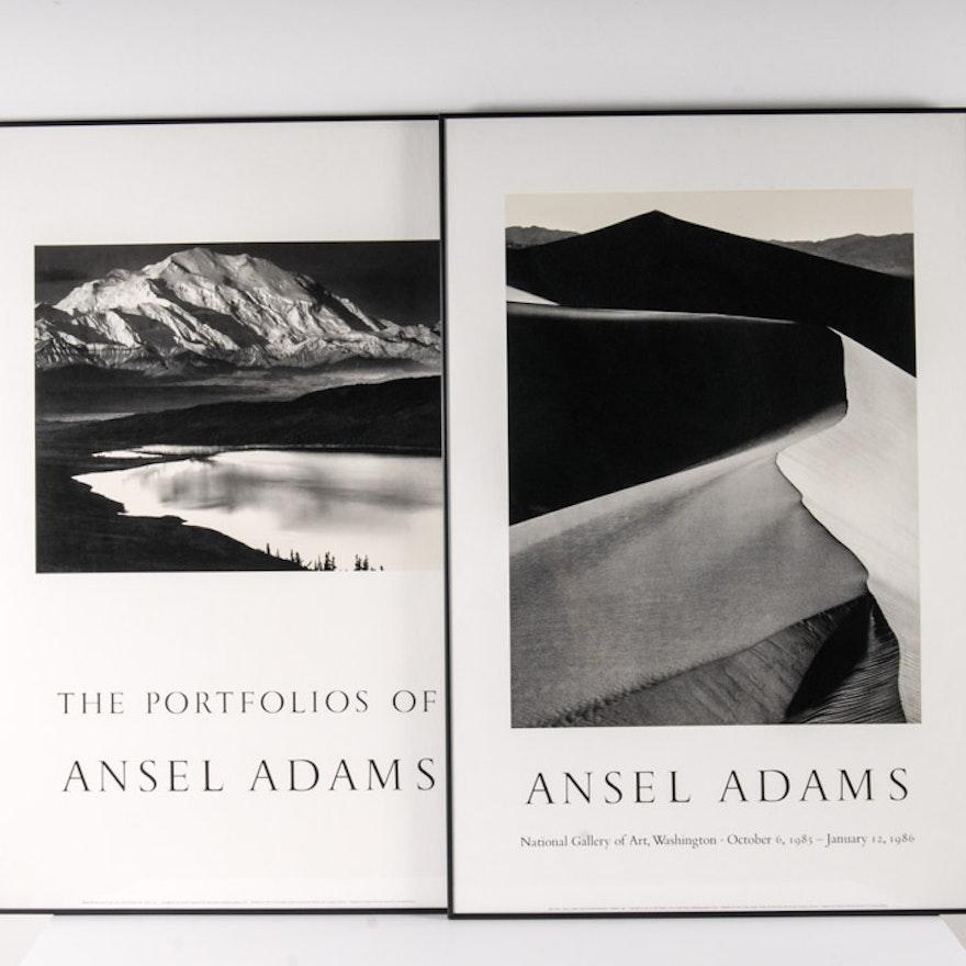 Pair Of Framed Ansel Adams Poster Prints
