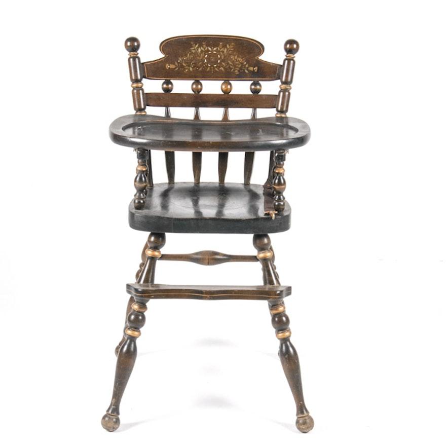 Vintage Ethan Allen Wooden Highchair ... - Vintage Ethan Allen Wooden Highchair : EBTH