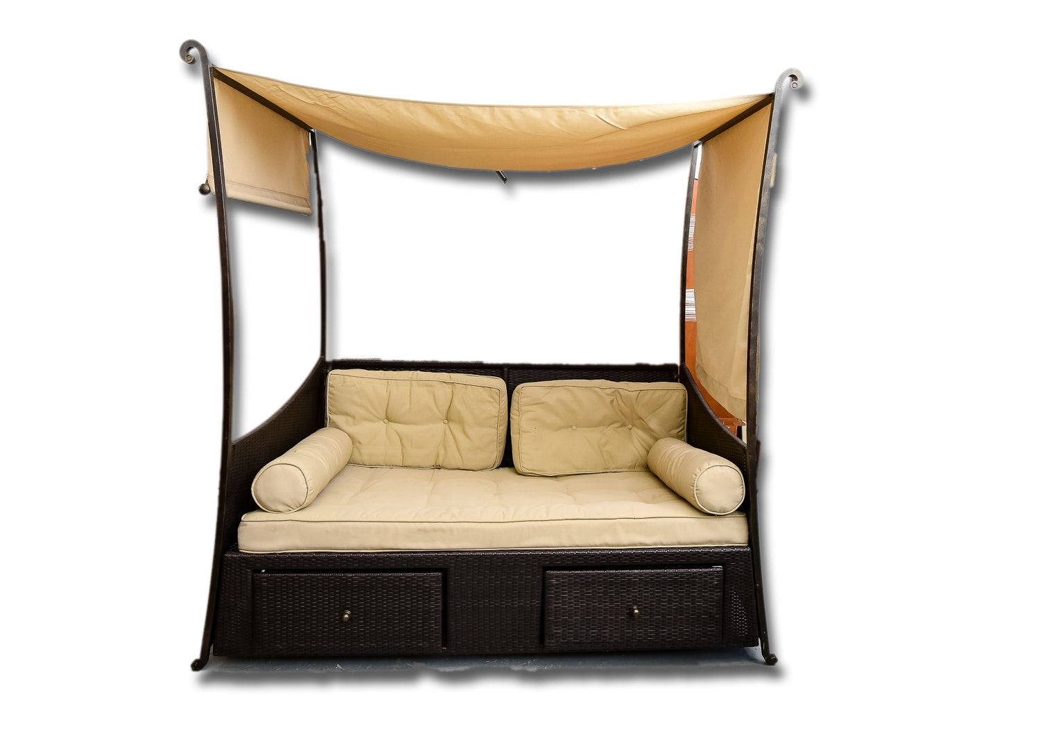 hampton bay outdoor daybed with canopy
