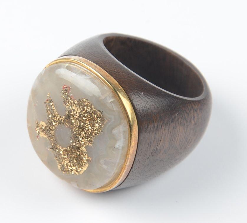 Gold Druzy Stretch Ring