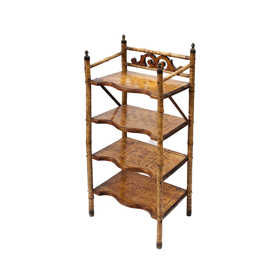 Victorian Aesthetic Movement Chinoiserie Bamboo Bookshelf