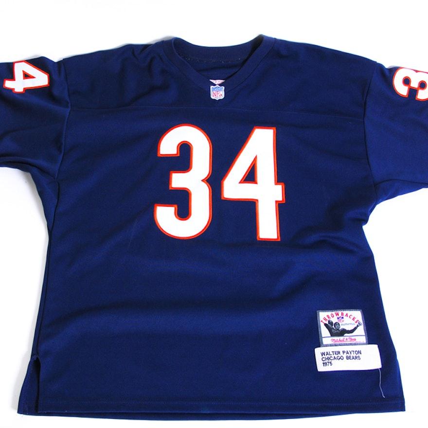 buy popular 5a2a5 39575 Throwback Walter Payton Football Jersey
