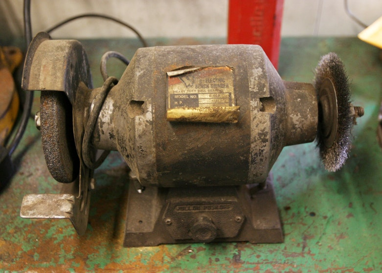 Electric Bench Grinder With Craftsman Face Shield Ebth