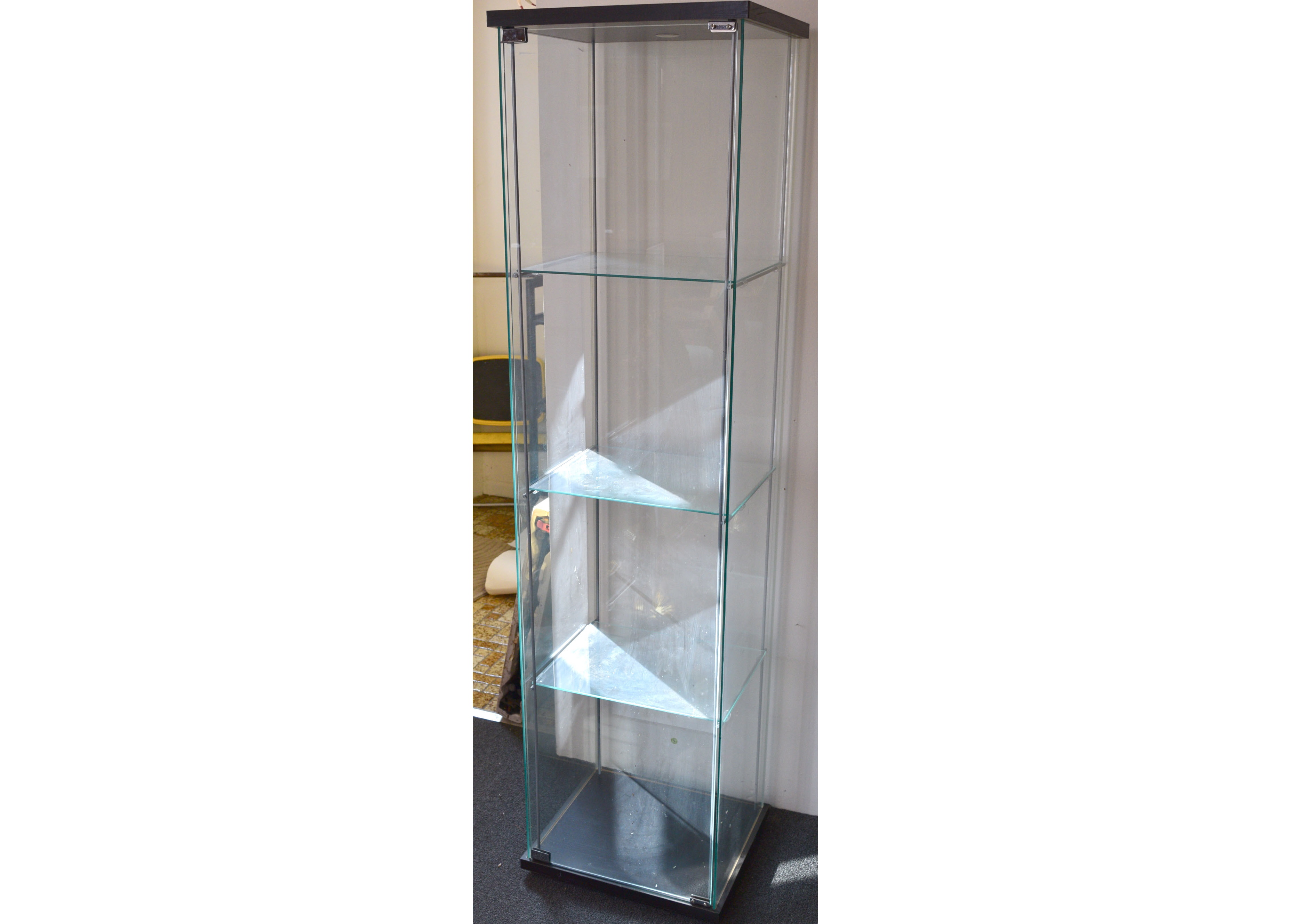 Ikea Detolf Glass Display Cabinet : EBTH