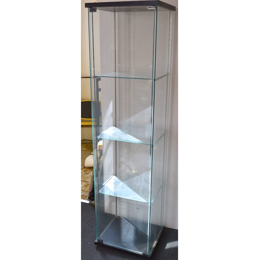 Ikea detolf glass display cabinet ebth - Ikea glass cabinets ...
