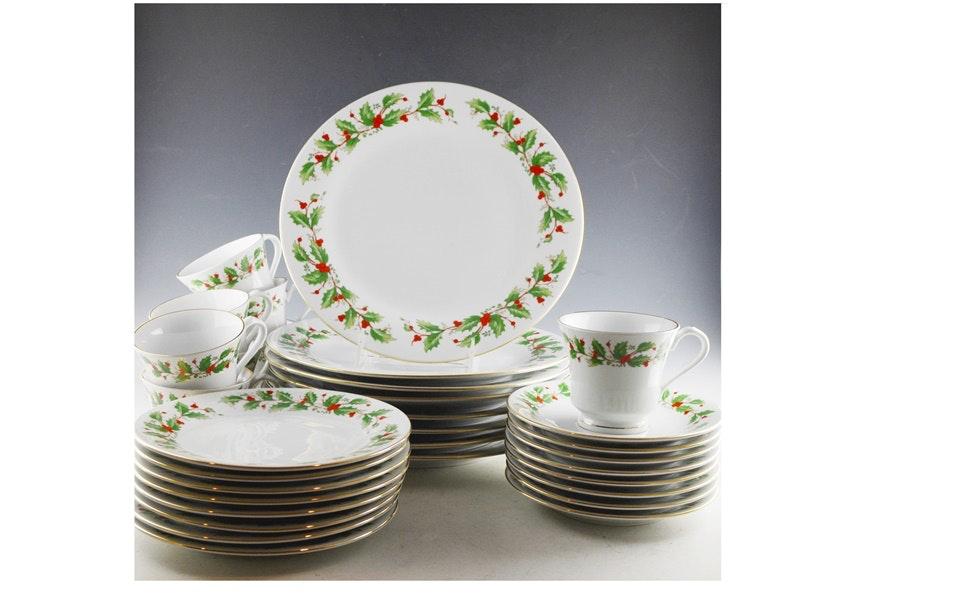 China Pearl \ Noel\  Fine China Dinnerware Set ...  sc 1 st  EBTH.com & China Pearl \