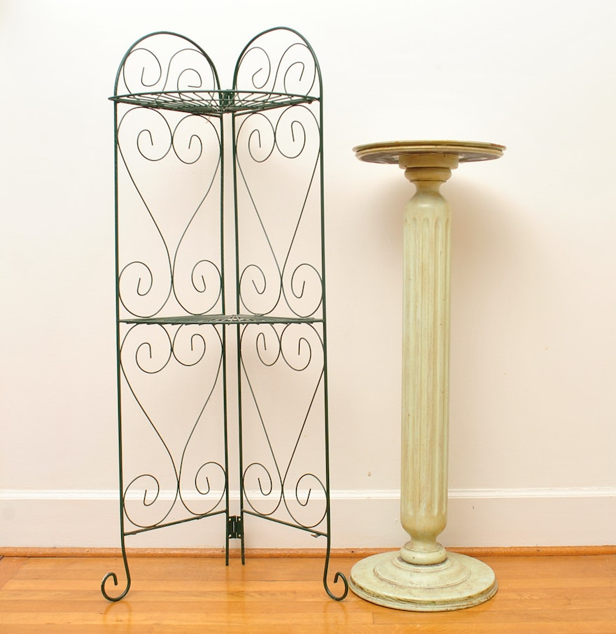 Duo Of Decorative Plant Stands