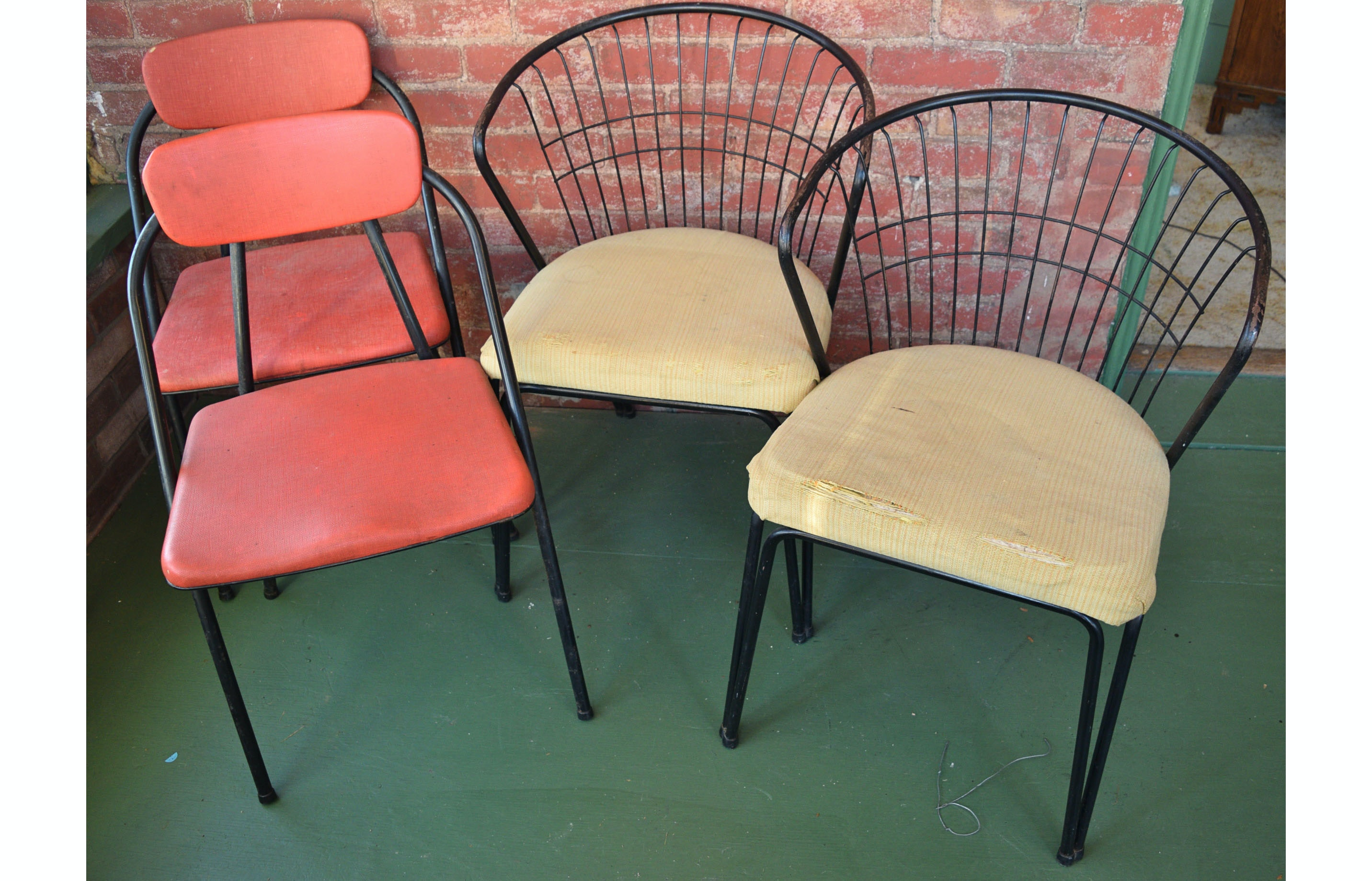 Mid Century Modern Hamilton And Daystrom Metal Chairs ...