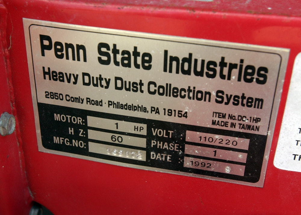 Penn State Industries Dust Collector Ebth