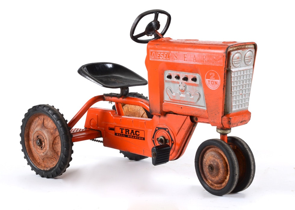 Junior Pedal Tractors Antique : Vintage sears tractor toy pedal car ebth