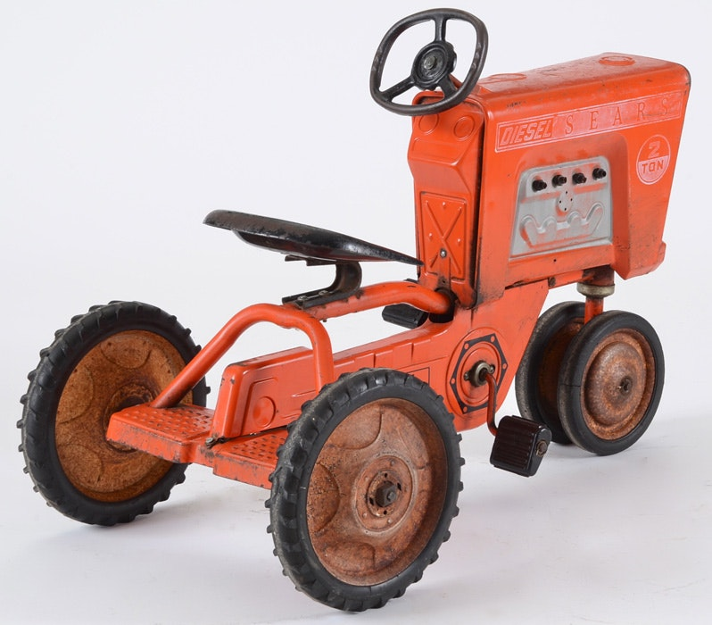 Antique Sears Tractors : Vintage sears tractor toy pedal car ebth
