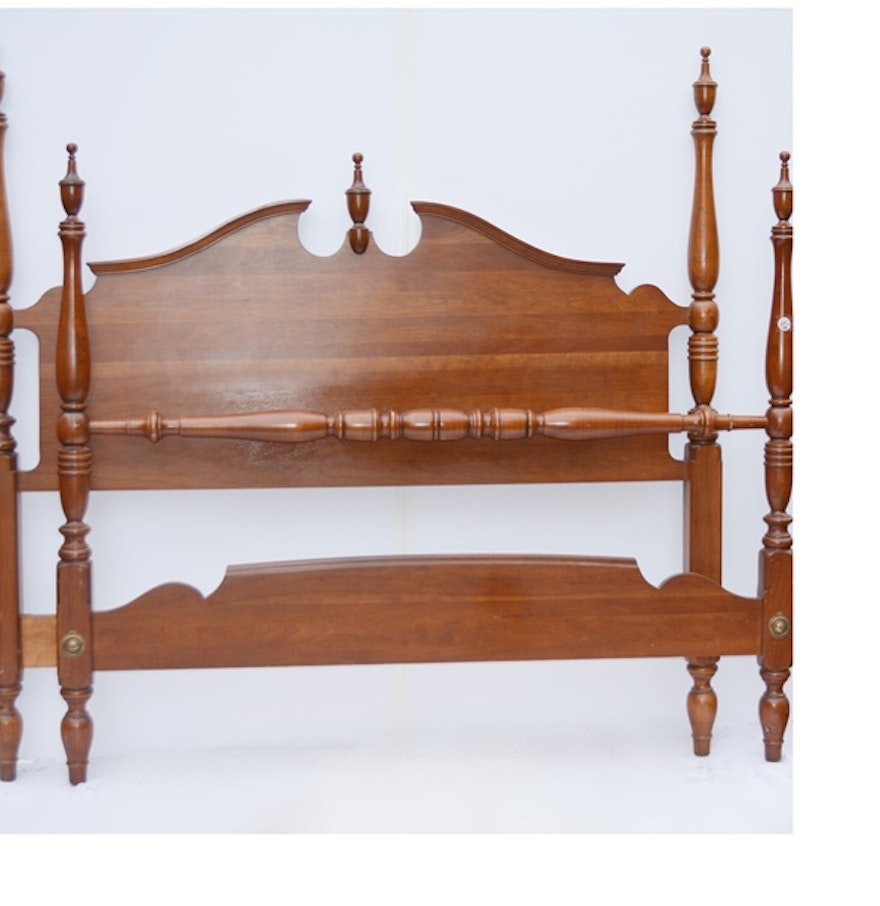 Full size ethan allen cherry headboard and footboard ebth for Full size footboard