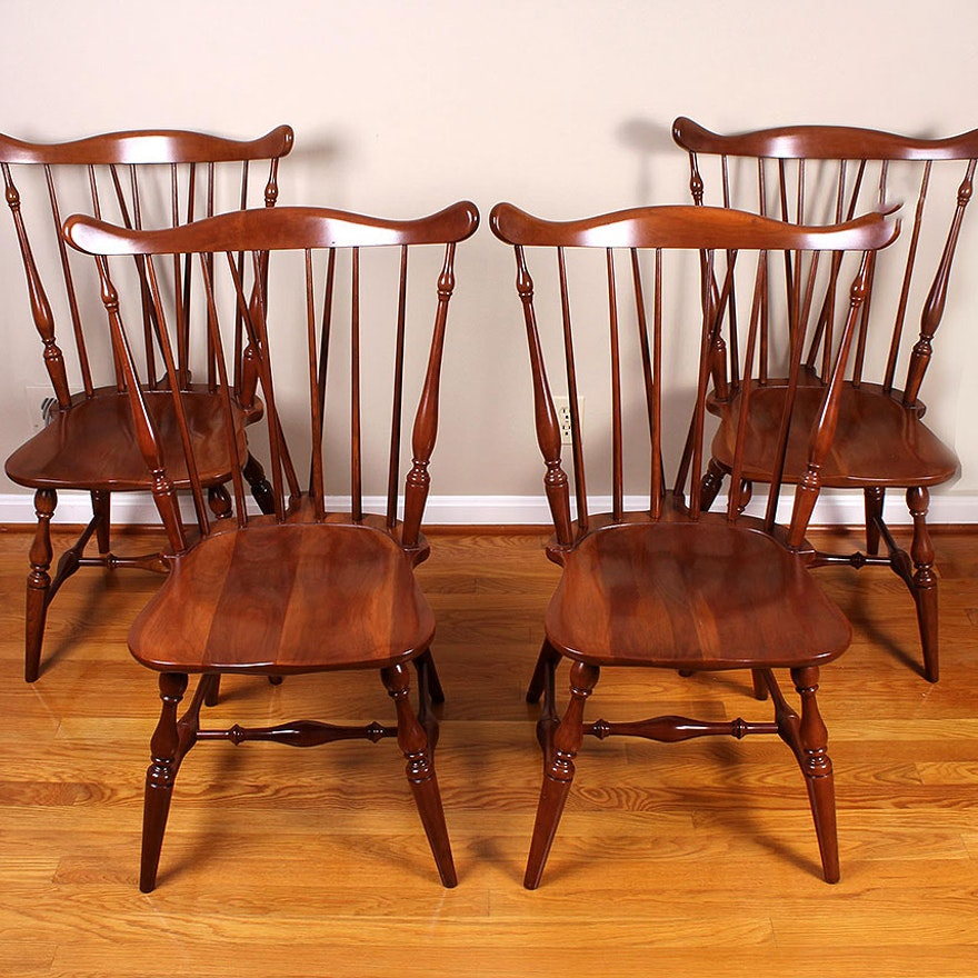 Cherry Windsor Style Dining Chairs