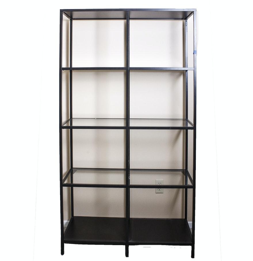 Ikea style metal shelving unit ebth for Ikea metal frame shelf