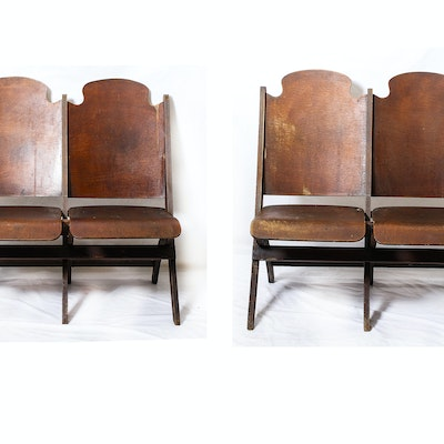 Pair of Antique Folding Chairs - Online Furniture Auctions Vintage Furniture Auction Antique