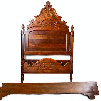 Victorian Style Queen Bed Set - Online Furniture Auctions Vintage Furniture Auction Antique
