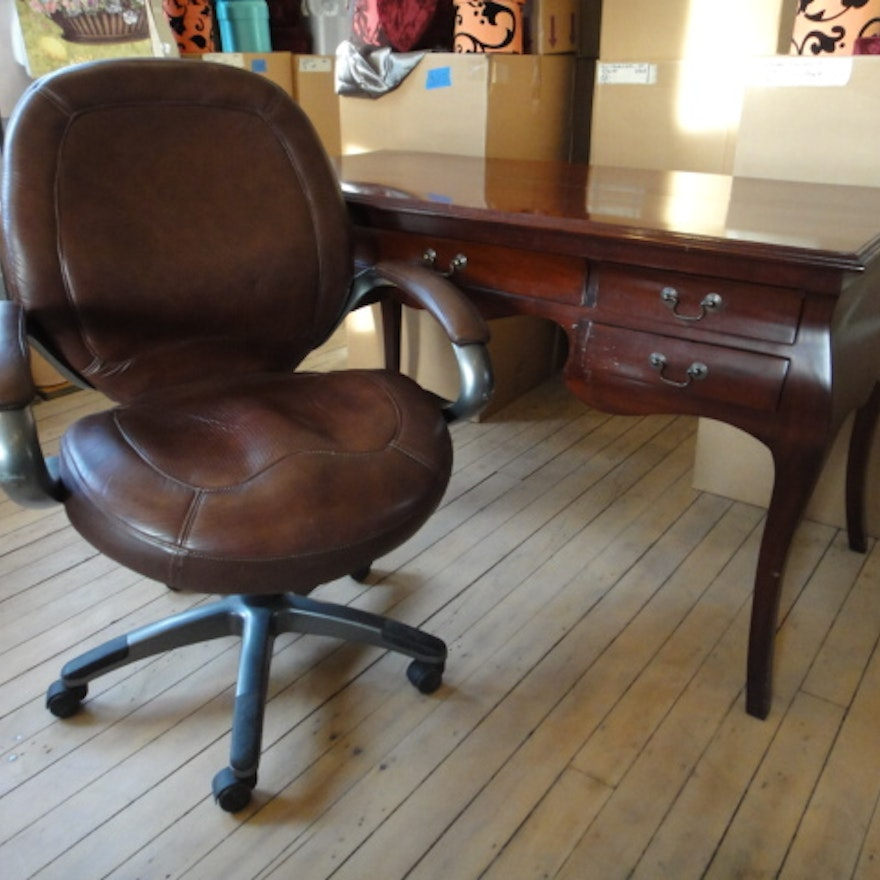 Victorian Style Desk With Office Chair