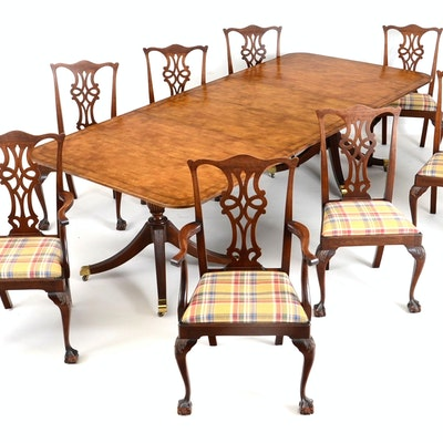 Baker Dining Room Table With Eight Chairs