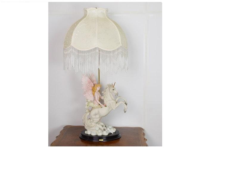 De Capoli Collection Ceramic Unicorn Table Lamp Ebth
