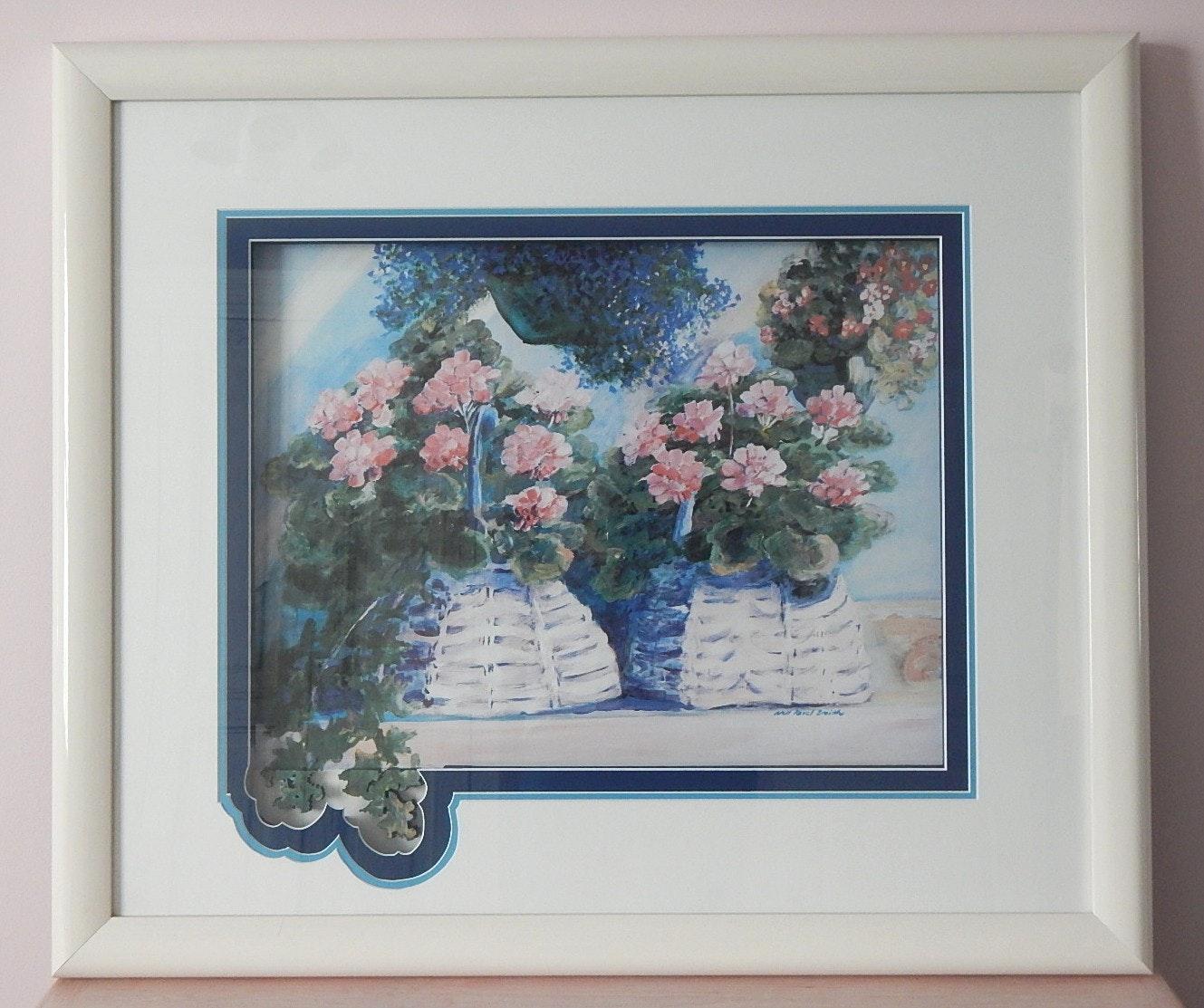Framed Jo Jacobus De Rubeis Floral Print Ebth