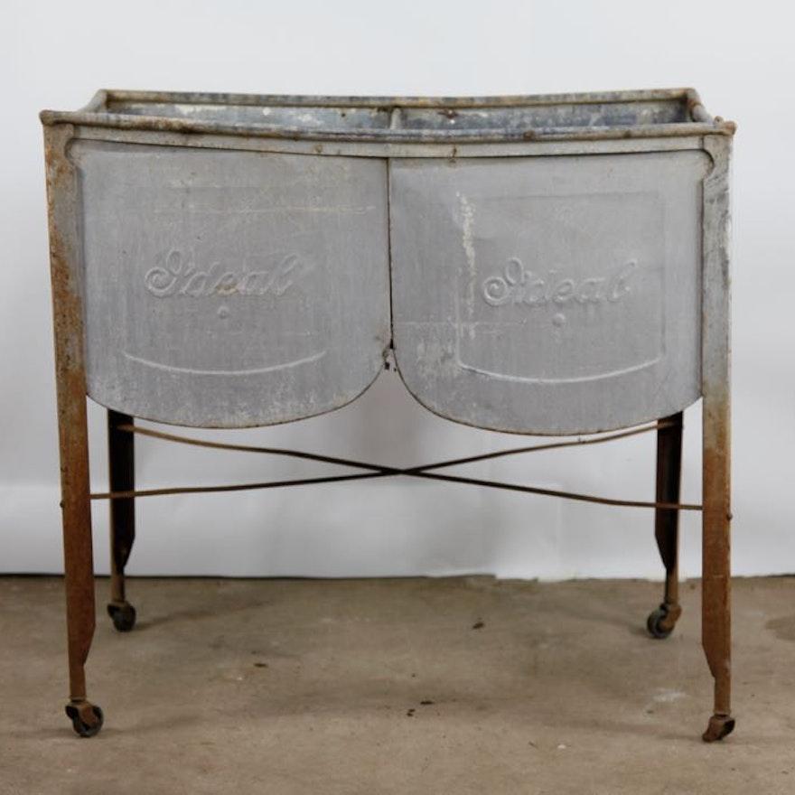 vintage ideal wash tub ebth. Black Bedroom Furniture Sets. Home Design Ideas