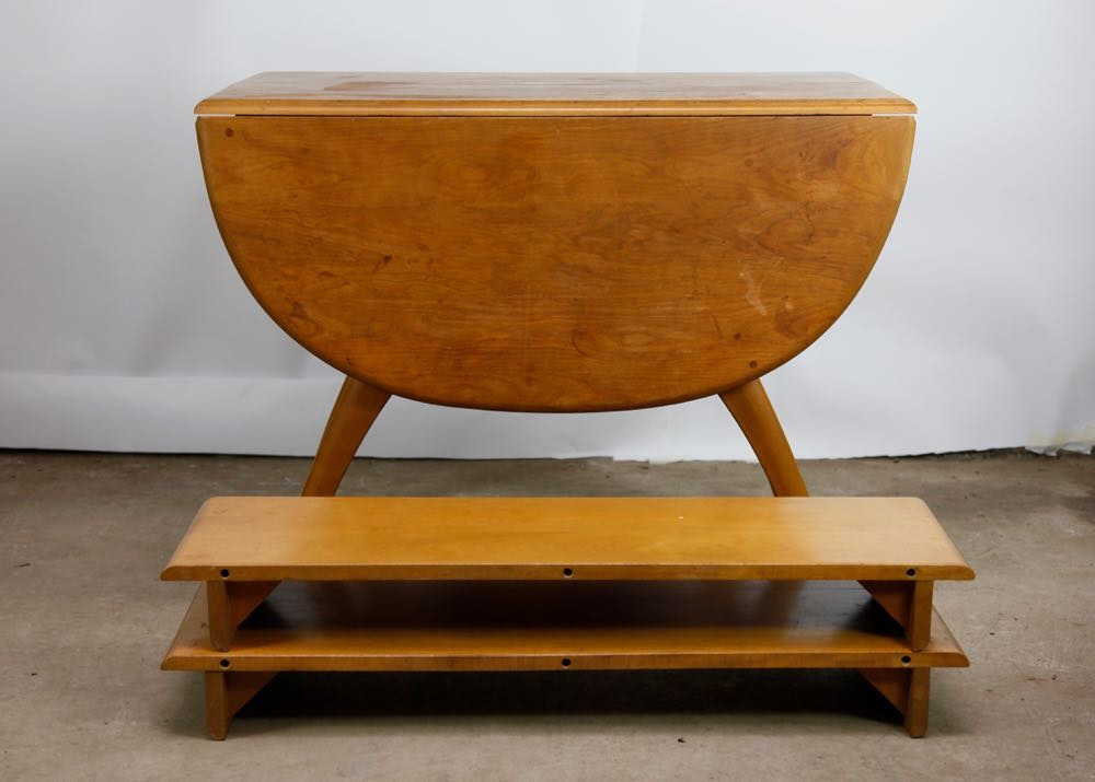 Exceptionnel Haywood Wakefield Two Pedestal Drop Leaf Table ...