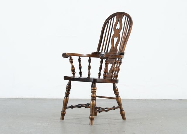 Vintage Roundback Pine Chair By Vermont Furniture Company ...
