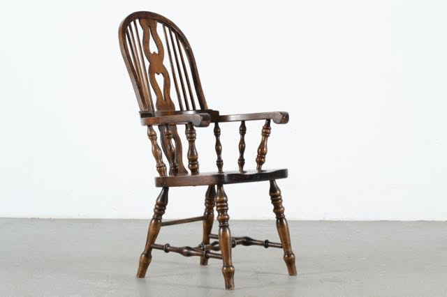 Vintage Roundback Pine Chair By Vermont Furniture Company