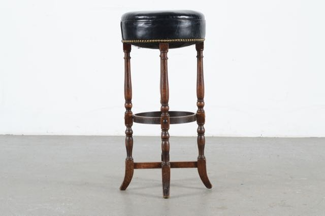 Trio Of Leather Bar Stool S With Nailhead Trim Ebth
