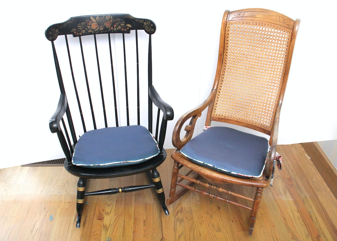 pair of nichols stone and bentwood rocking chairs ebth
