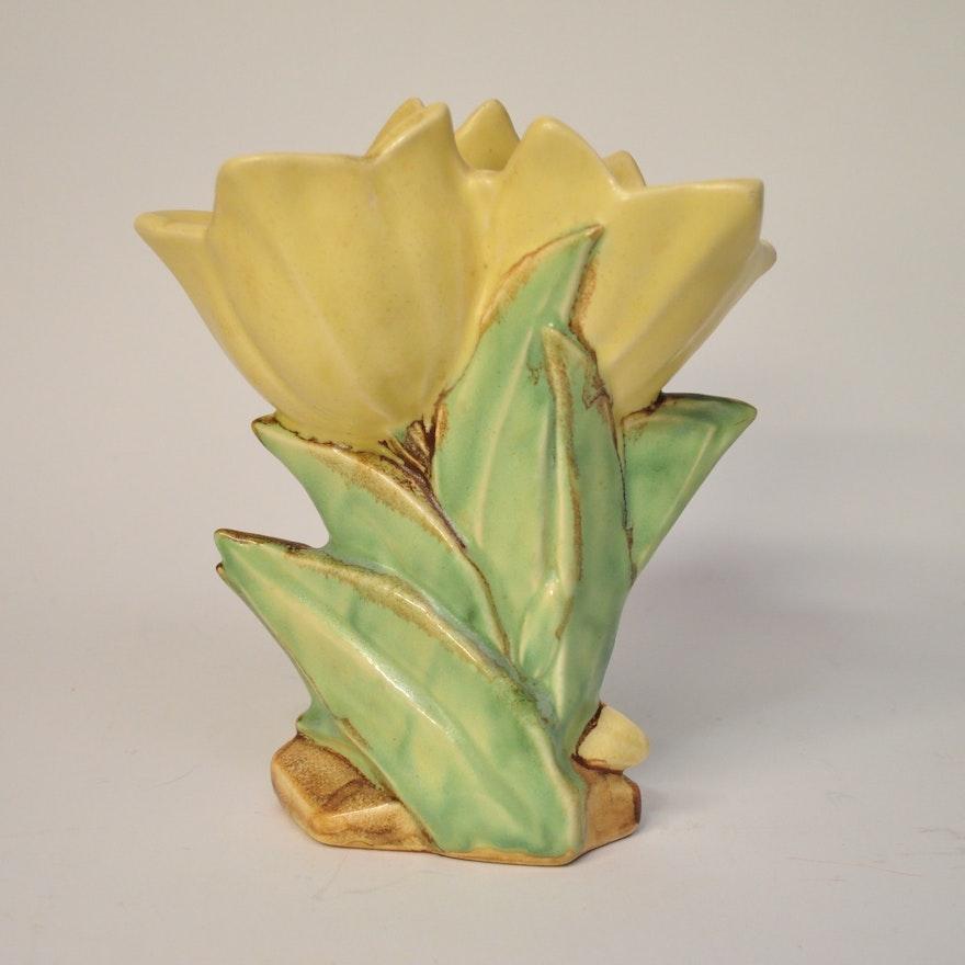 Mccoy Double Tulip Vase Ebth