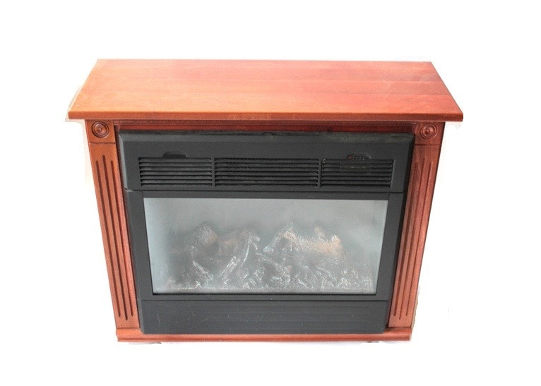 heat surge electric fireplace on casters ebth
