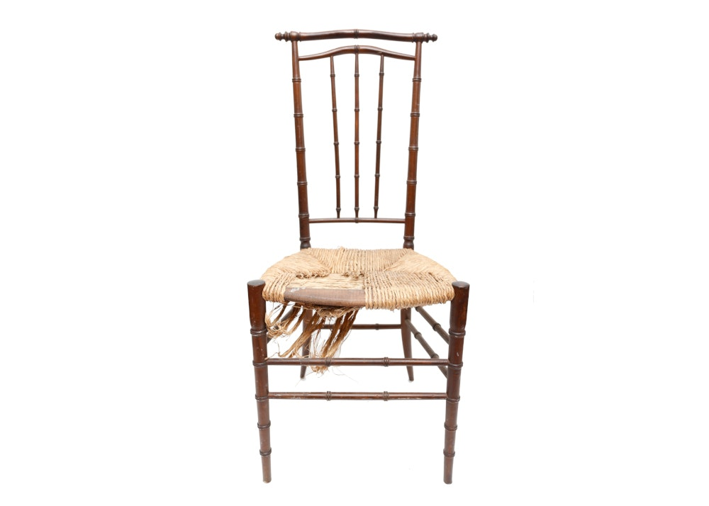 Faux Bamboo Side Chair In The Chinese Style Ebth